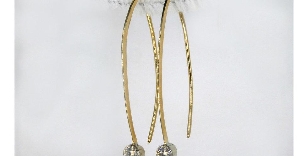 custom designed gold pear shaped diamond earrings