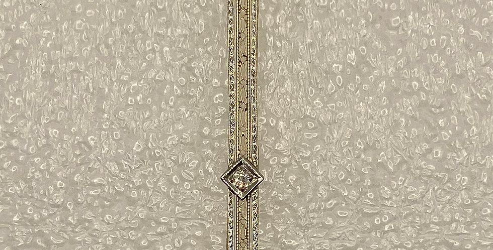 Antique Sapphire and Diamond Bar Necklace