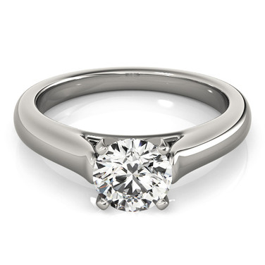 Ferdinand Jewelers solitaire round diamond contemporary sterling setting engagement ring