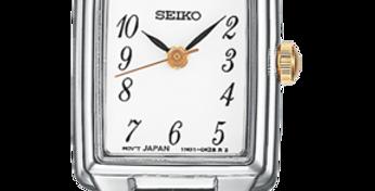 Seiko Analog Quartz Silver and Gold Stainless Women's Watch SXGL61