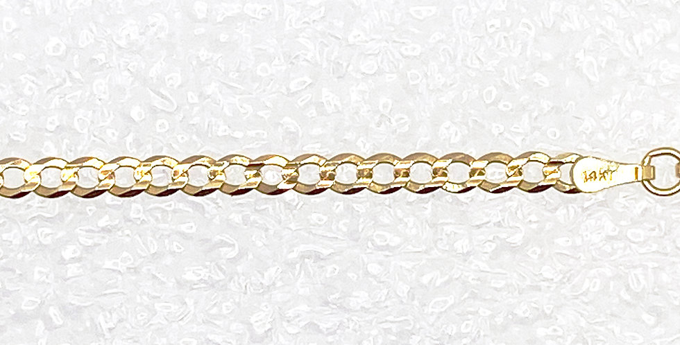 Mans Gold Cable Chain