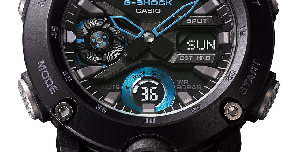 Casio G-Shock Analog-digital Aqua/Black Automatic Watch GA-2000-1A2