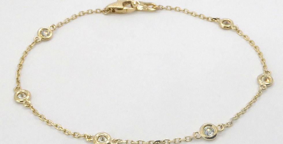 Diamond by the Inch Yellow Gold Bracelet