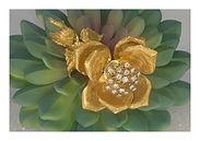Tremblent brooch diamond cluster flower