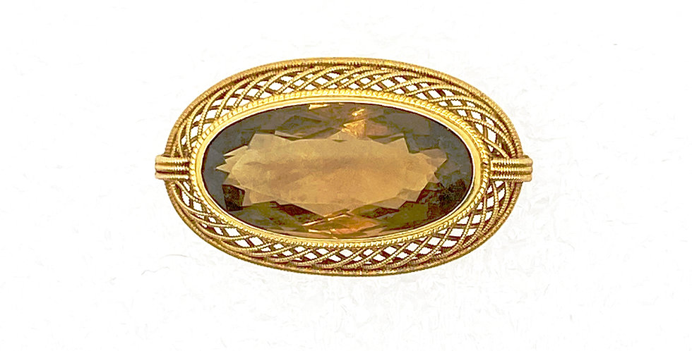 Citrine VIntage Pin