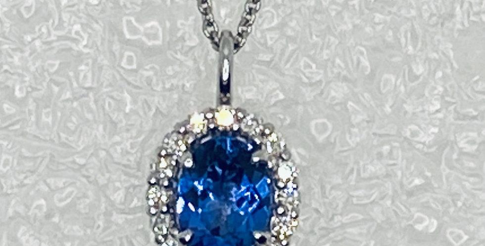 Tanzanite Blue Pendant