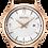 Thumbnail: Seiko Analog Quartz Rose Gold and Brown Women's Watch SXDG988
