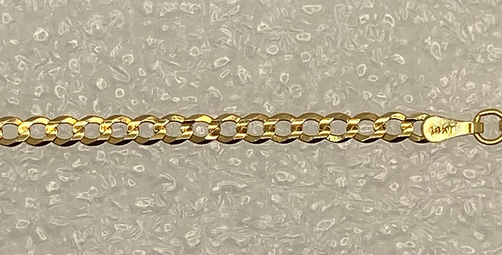 Mens Gold Cable Chain