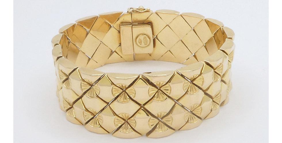 Wide Gold Vintage Bracelet