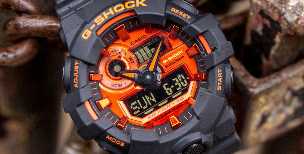 Casio G-Shock Analog-digital Orange-Black Automatic Men's Watch GA700BR