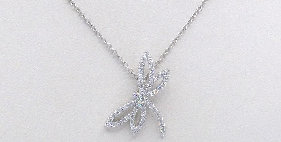 Diamond Dragonfly Necklace