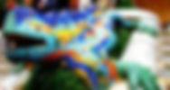 グエル公園トカゲの彫刻