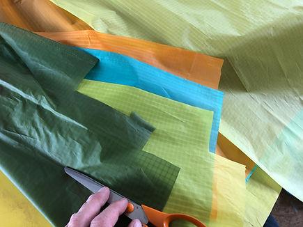Déchirure kite aile kite explosé couture