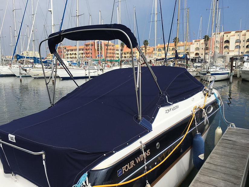 Bache bateau Taud soleil nautique Leucat