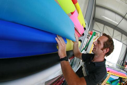Tissu Dacron coloré kitesurf windsurf le