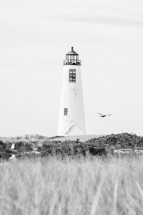 Great Point Lighthouse 2 BW