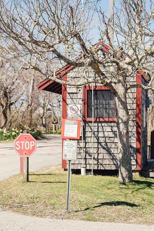 Closed Coskata-Coatue Wildlife Refuge Gatehouse
