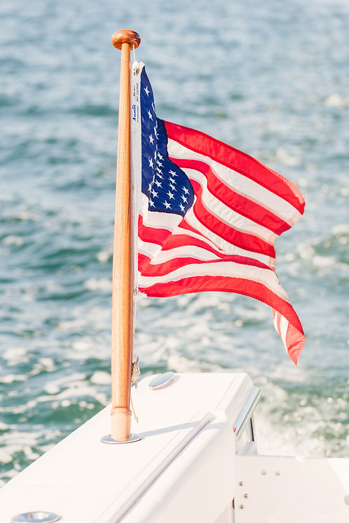 American Flag on the Harbor