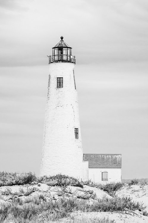 Great Point Lighthouse 1 BW