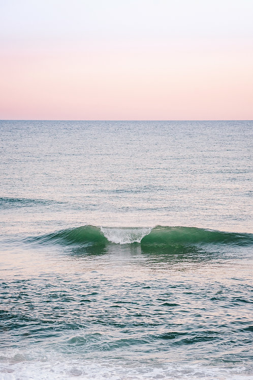 Lone Wave at Sunset
