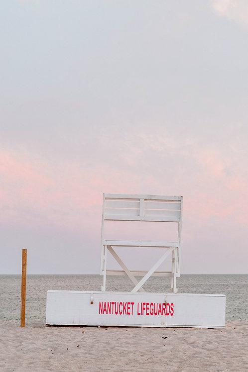 Nantucket Lifeguard Stand Sunset