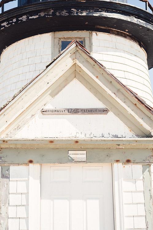 Historic Brant Point Lighthouse Detail