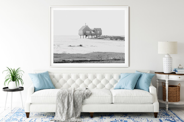 Nantucket Black and White Photography Framed Art