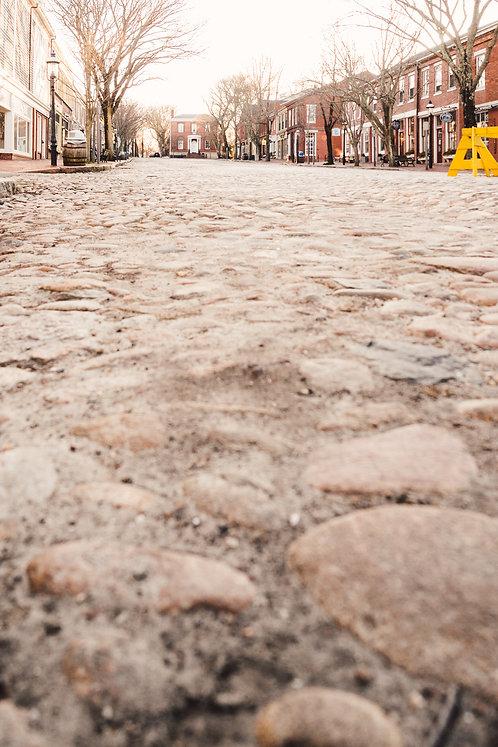 Empty Main Street Nantucket 1