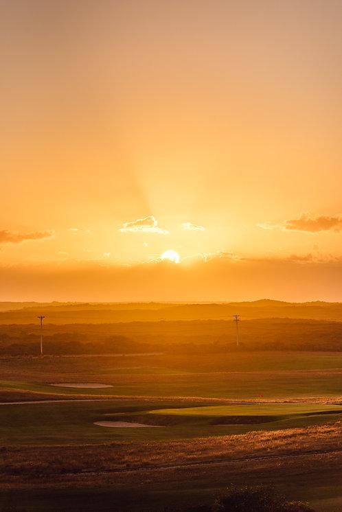 Sunset over Nantucket Golf Course