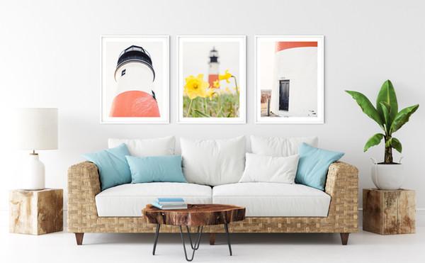 Nantucket Lighthouse Photography Framed Art