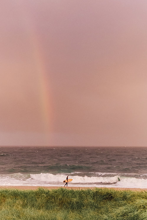 Sunset Rainbow at Fishermans Beach