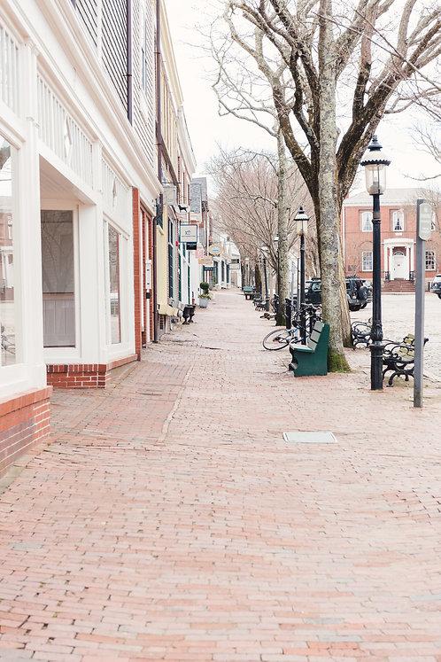 Empty Main Street Nantucket 6