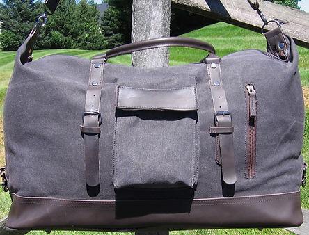 leather duffle travel bag overnight bag
