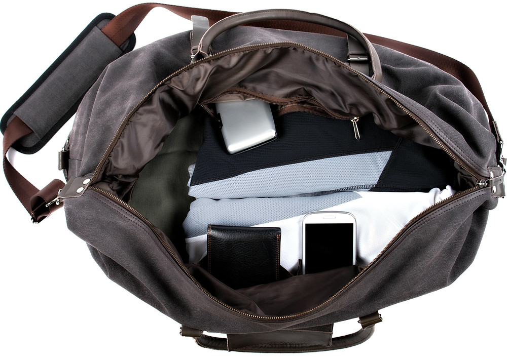 Potenza Duffle Bags are designed for organized travel