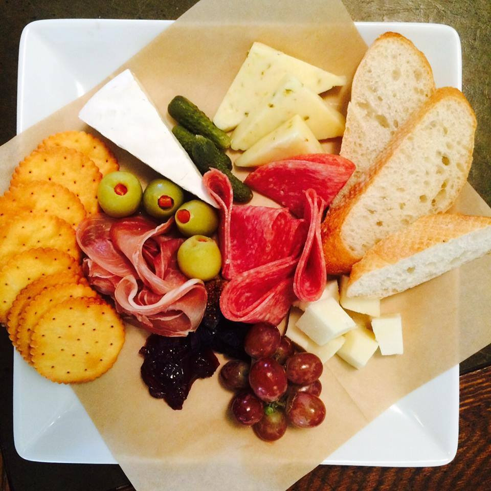 Enjoy a charcuterie plate with dinner.