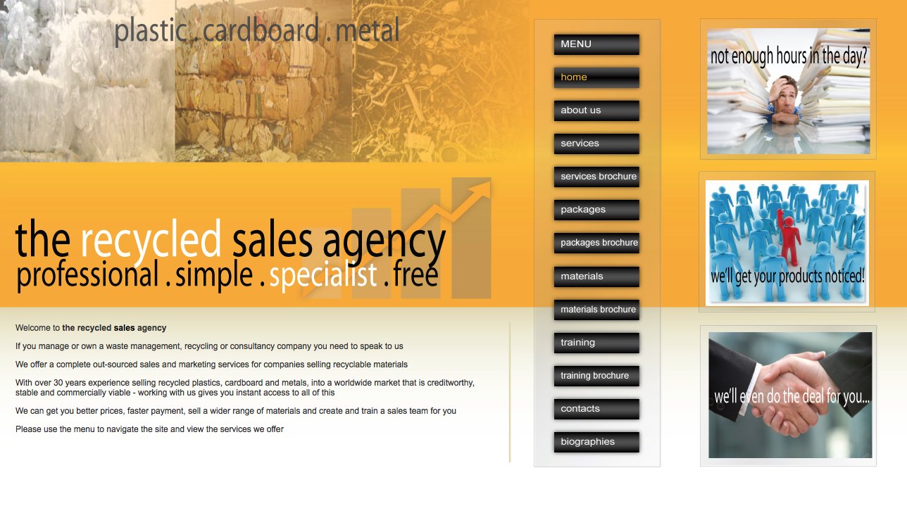 Sales Agency Website