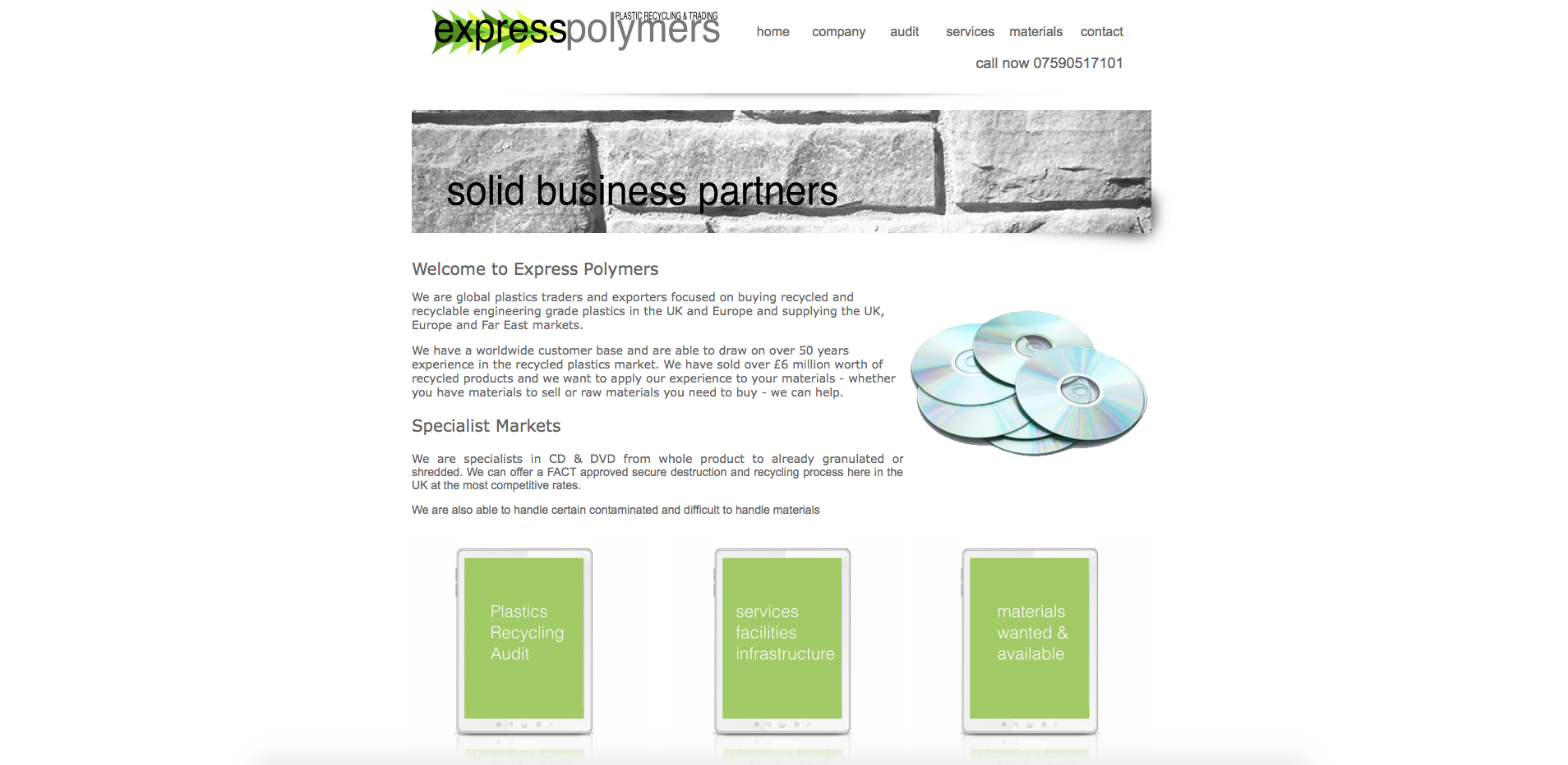 Express Polymers Website