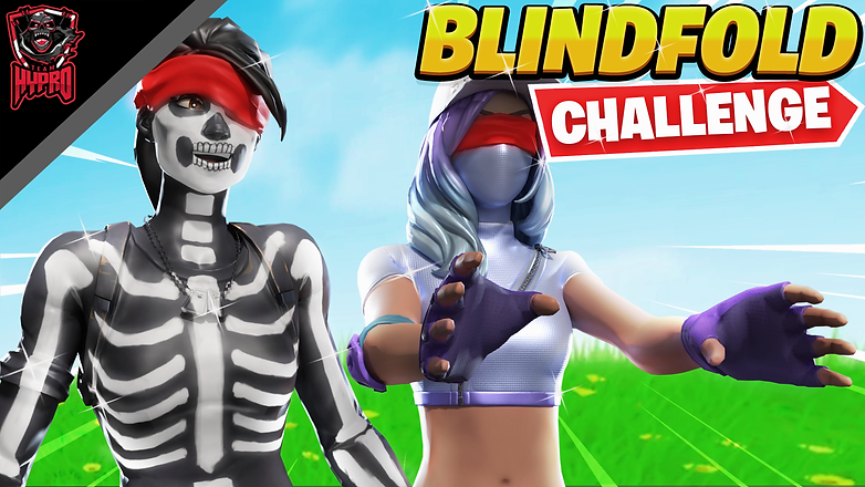 FORTNITE BLINDFOLD CHALLENGE with Hypro FinnJepson & Hypro Wutty Thumbnail