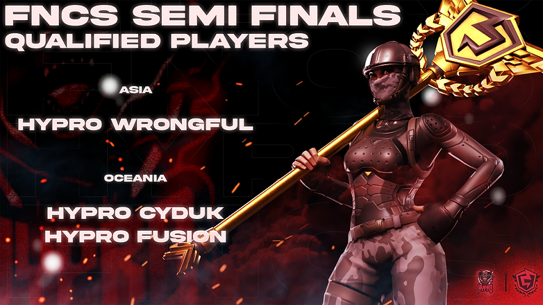 FNCS Semi Finals Qualified Players Poster