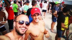 Wıth my friend at Ironman Mallorca