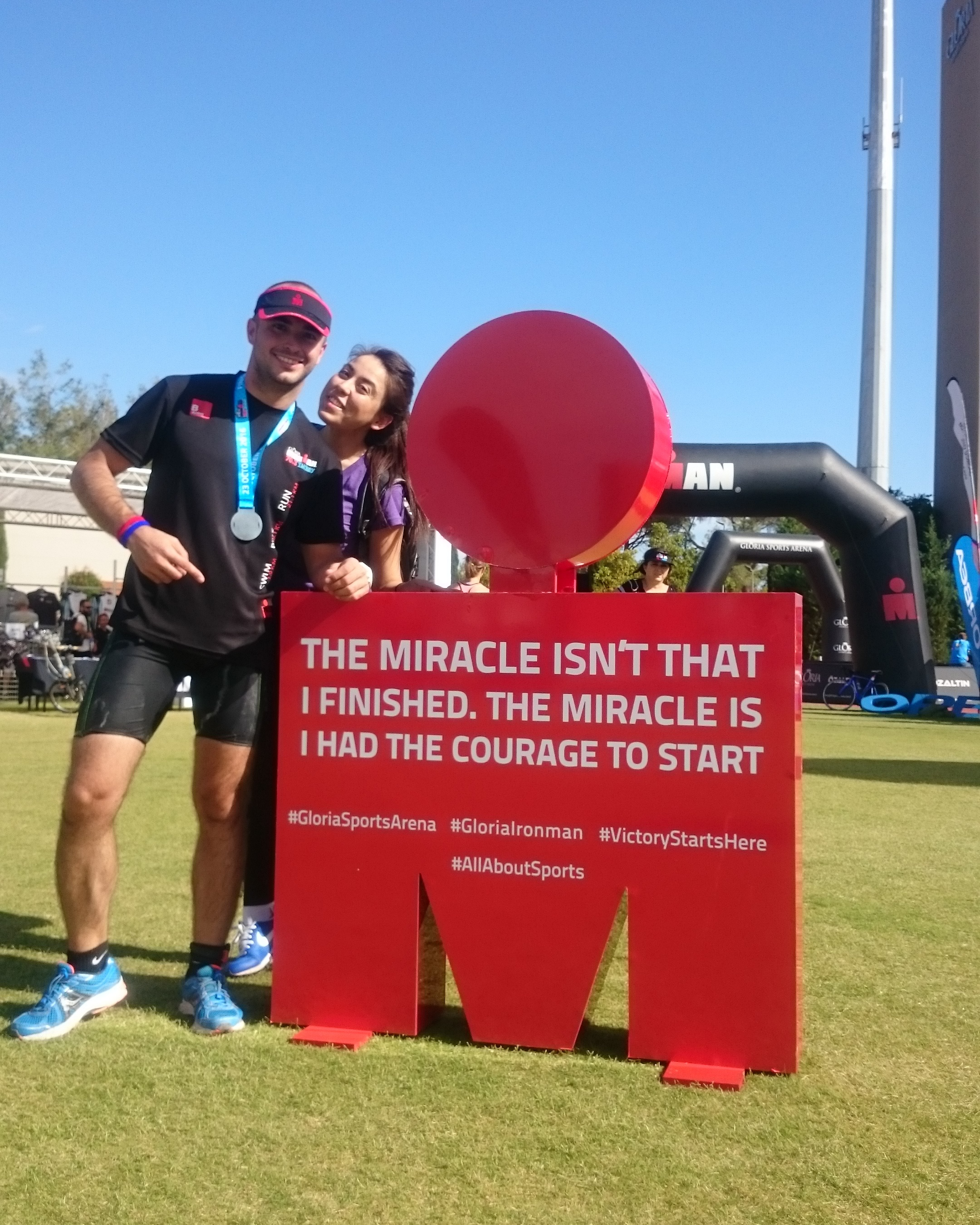 Ironman 70.3 with Wife