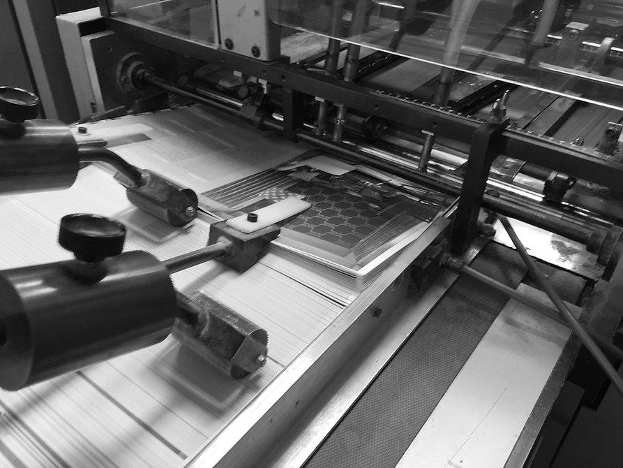 PUR binding machine feeding covers