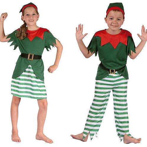 Disfraz Traje Duende Navidad Excelente Calidad Super Oferta