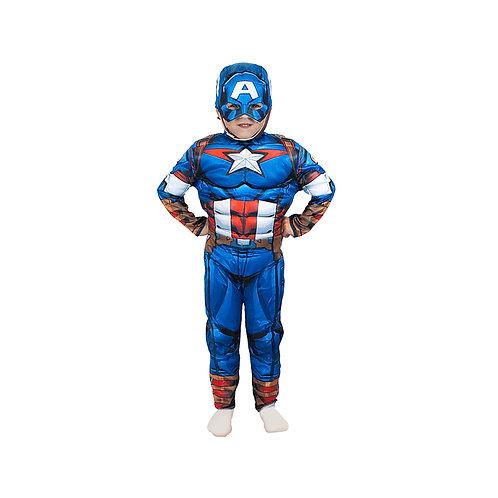 Disfraz Capitan America con Músculos Original