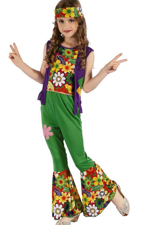 Disfraz Hippie Niña Excelente Calidad