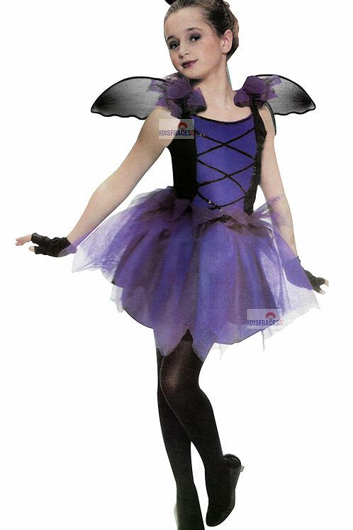 Disfraz Halloween Vampira Con Cuernos Y Alitas