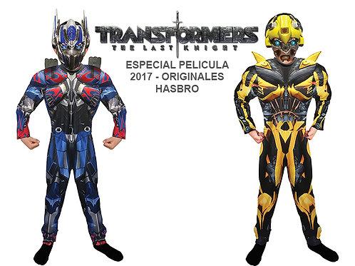 Disfraz Transformers Optimus Prime y Bumblebee Originales con Musculos Pelicula
