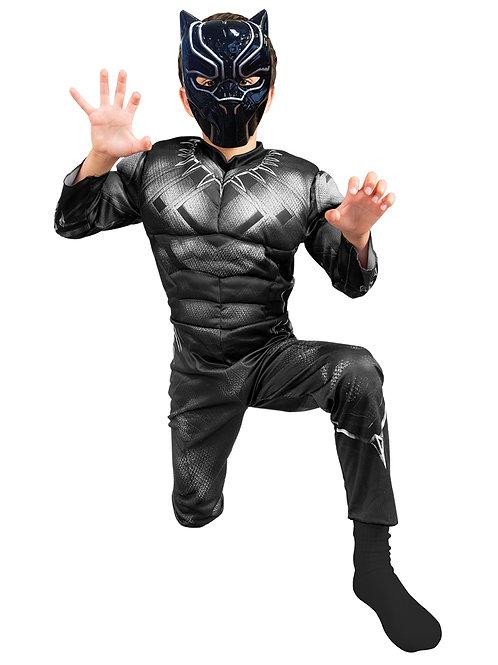 Disfraz Black Panther Pantera Negra con Músculos Original