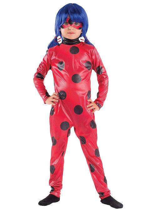 Disfraz Ladybug Con Peluca, Antifaz Original Disney