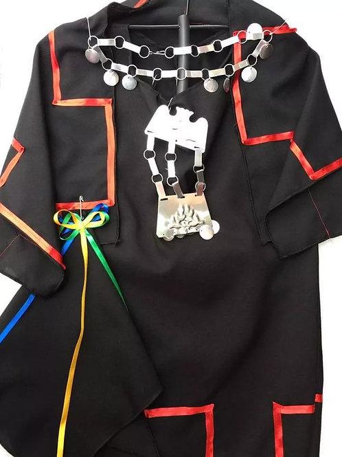 Traje Disfraz Típico Mapuche Completo Para Niñas Calidad